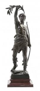 1279: A French Bronze Sculpture, Eugene Marioton (1854-