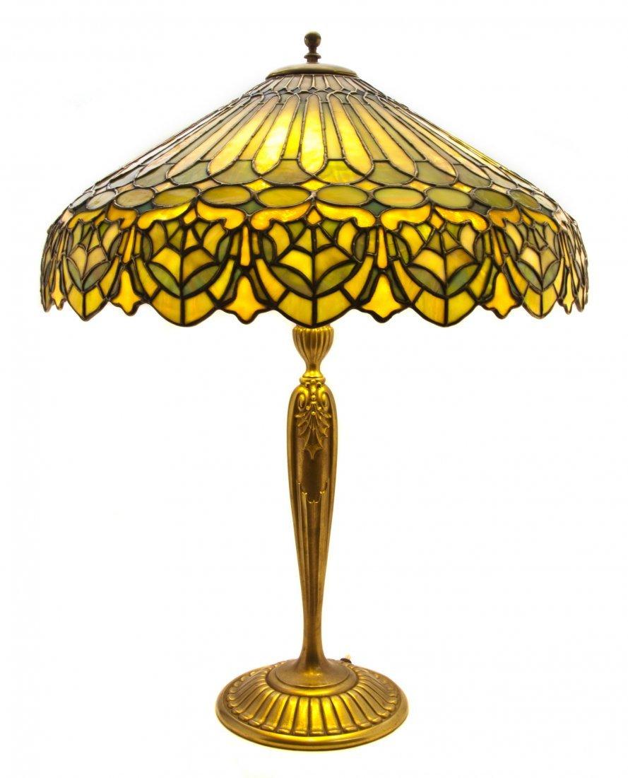 1360: An American Leaded Glass Table Lamp, Duffner & Ki