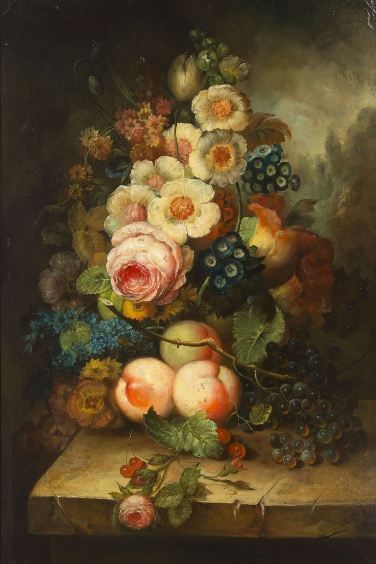 12: Artist Unknown, (20th century), Floral Still Life