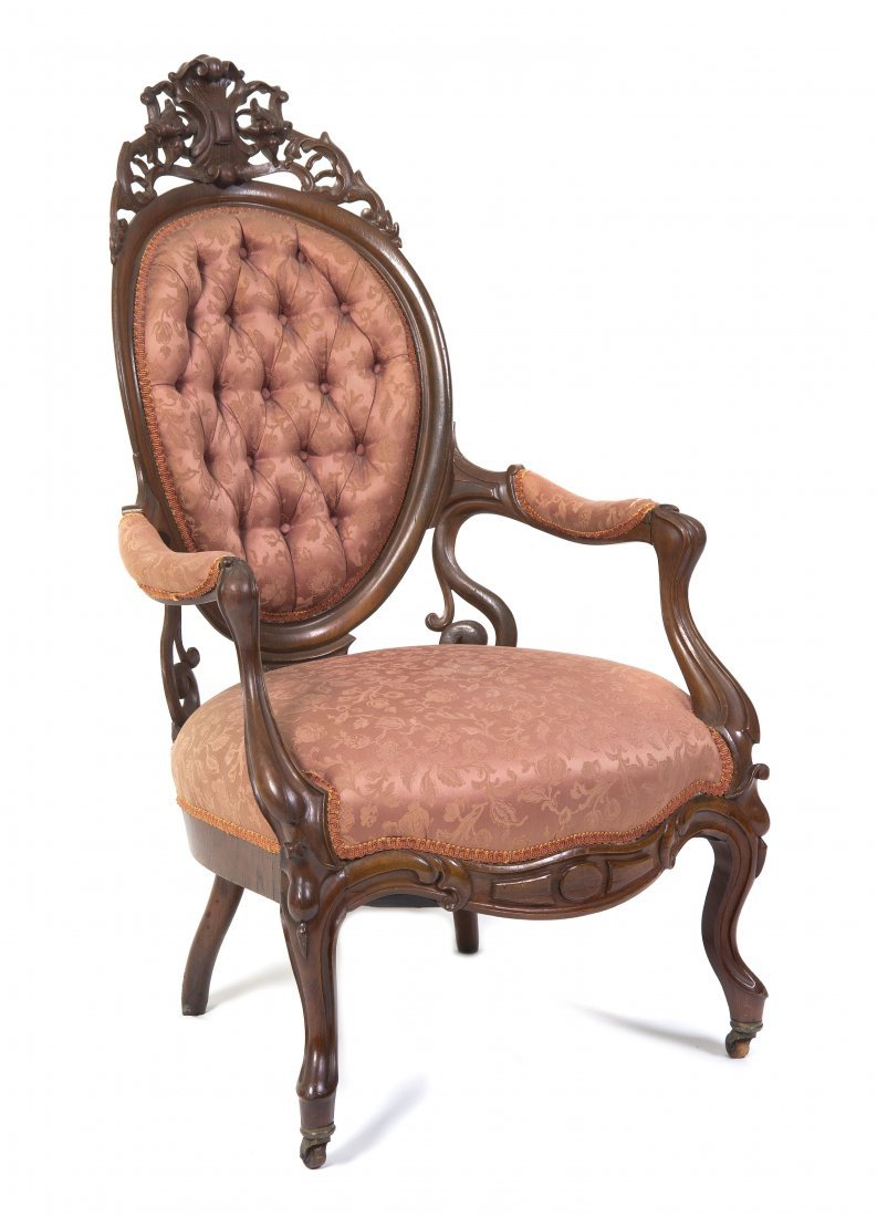13: A Rococo Revival Armchair, in the manner of Belter,