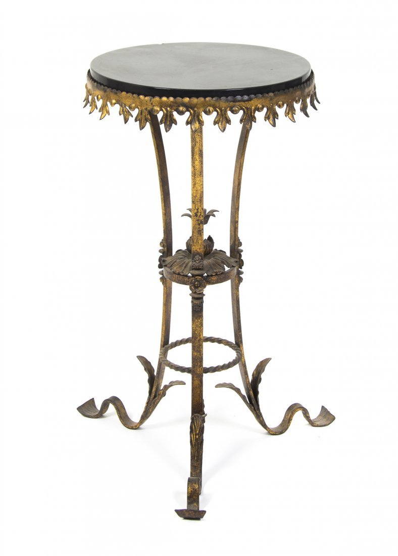 18: A Continental Wrought Iron Pedestal Table, Height 2