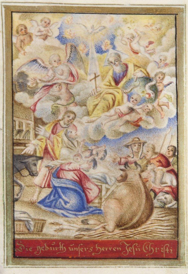 2: (ILLUMINATED MINIATURE) BIBLIA PAUPERUM, 17th c.
