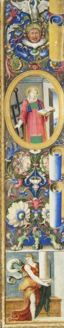 4: (ILLUMINATED MINIATURE) SAINT LAWRENCE, 16th century