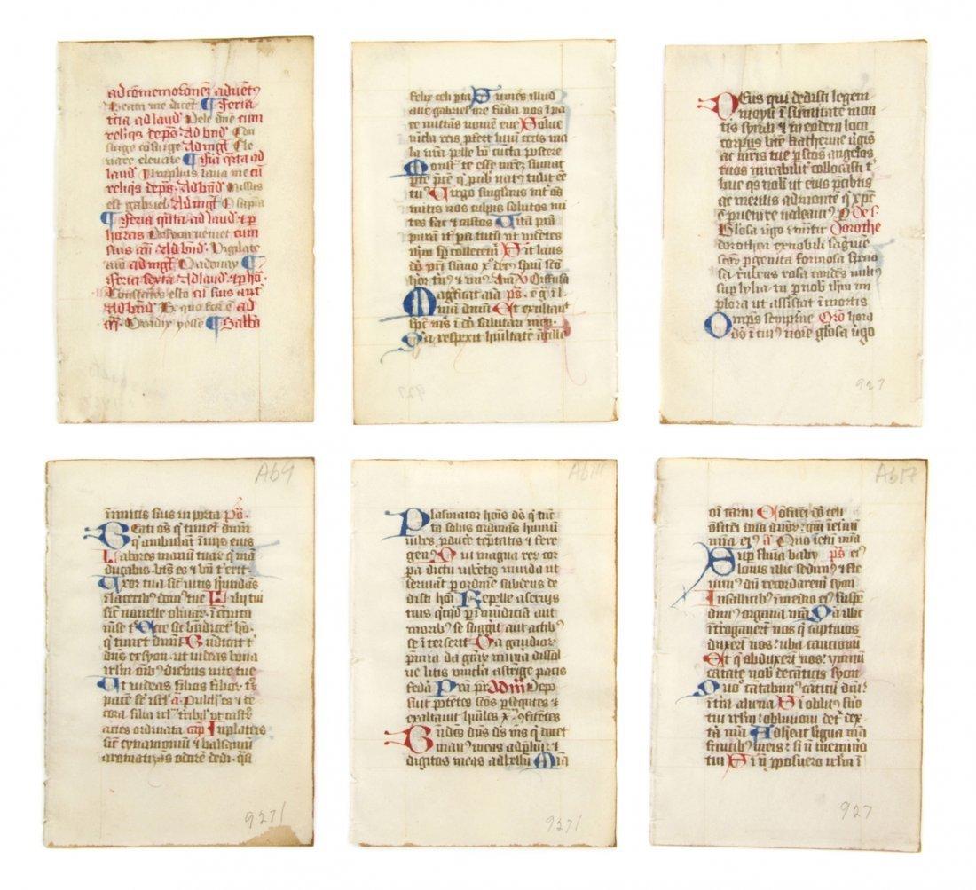 5: (ILLUMINATED MANUSCRIPT) LEAVES, Book of Hours