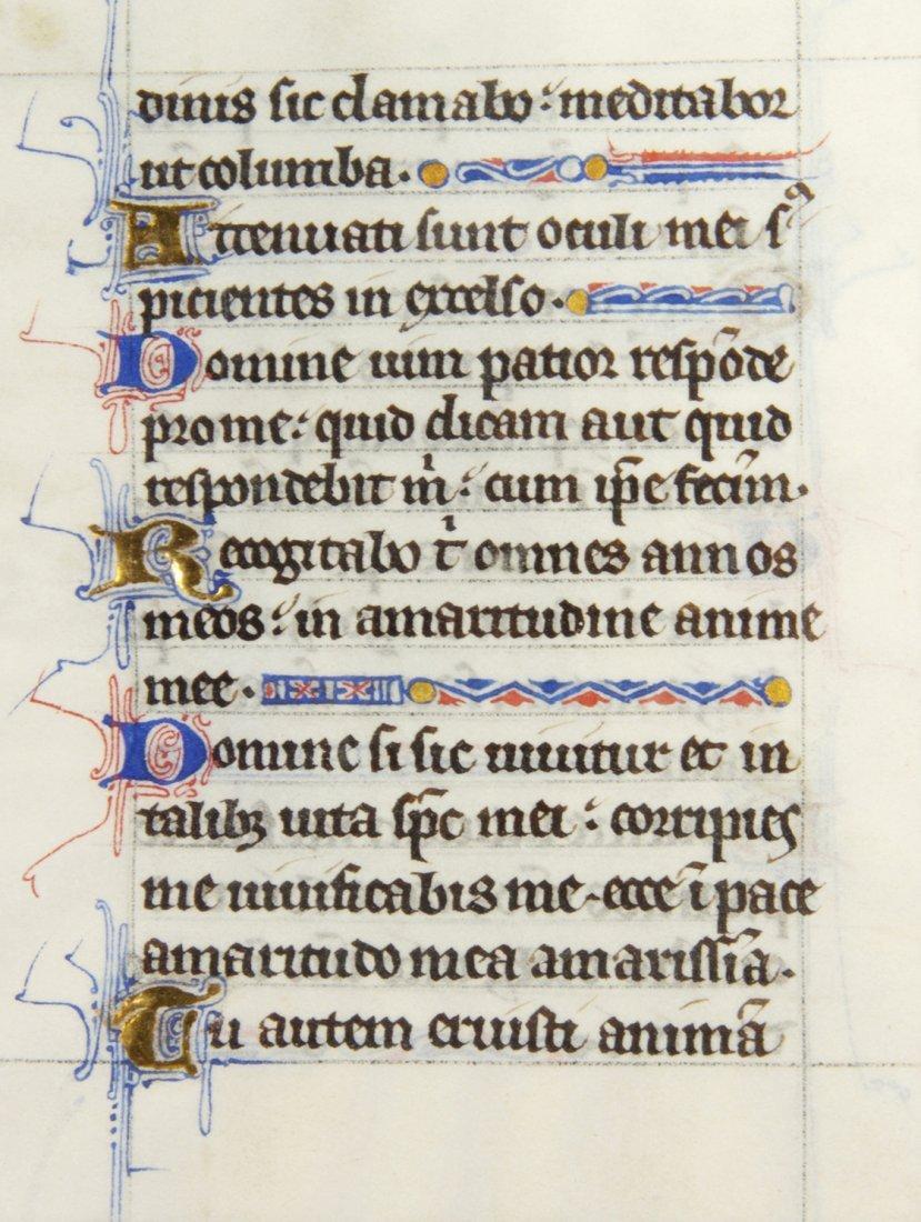 7: (ILLUMINATED MANUSCRIPT) LEAVES, Book of Hours