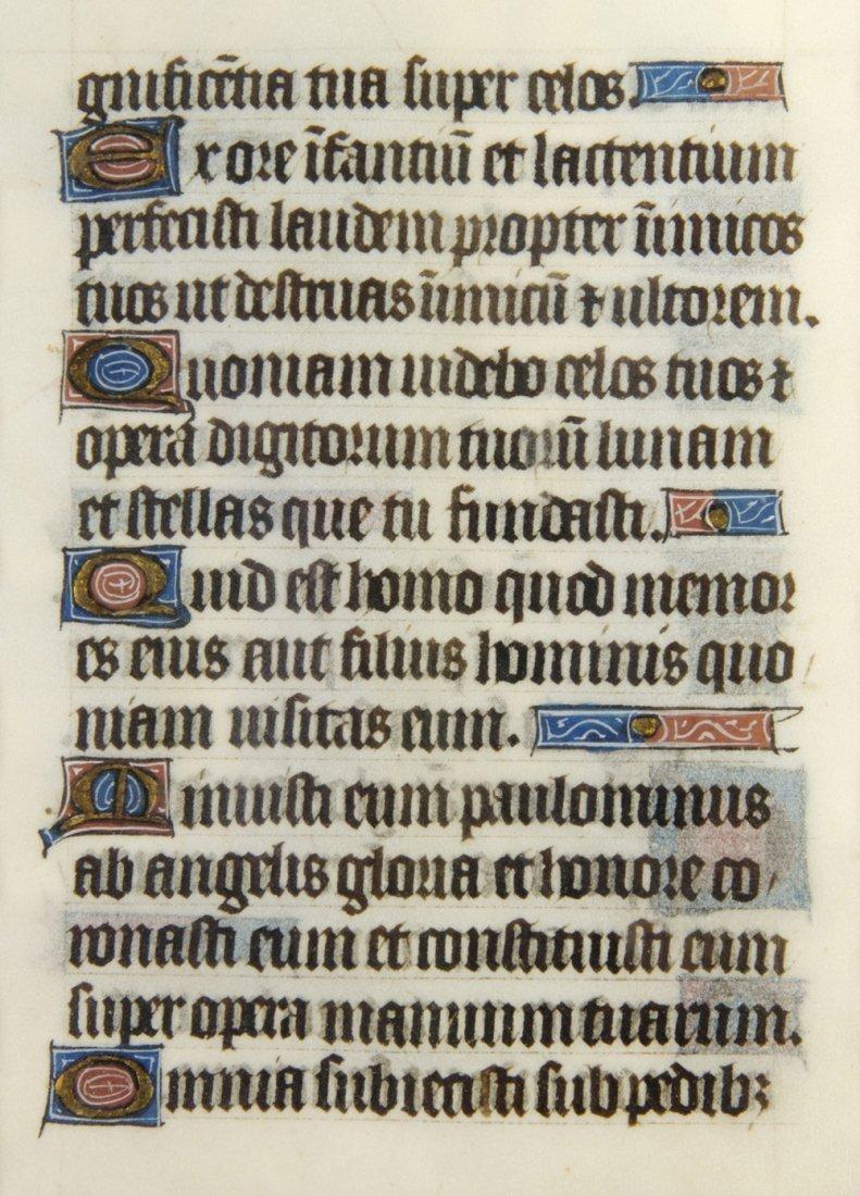 8: (ILLUMINATED MANUSCRIPT) LEAVES, Book of Hours