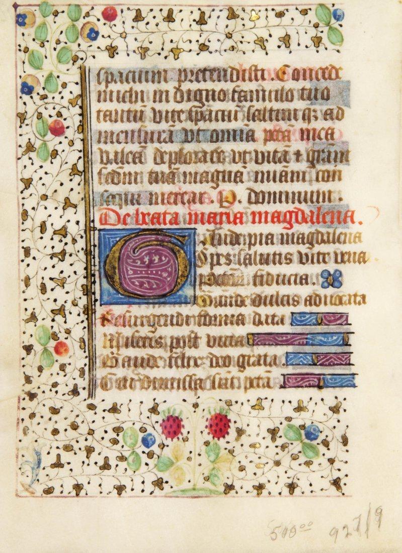 10: (ILLUMINATED MANUSCRIPT) LEAVES, Book of Hours