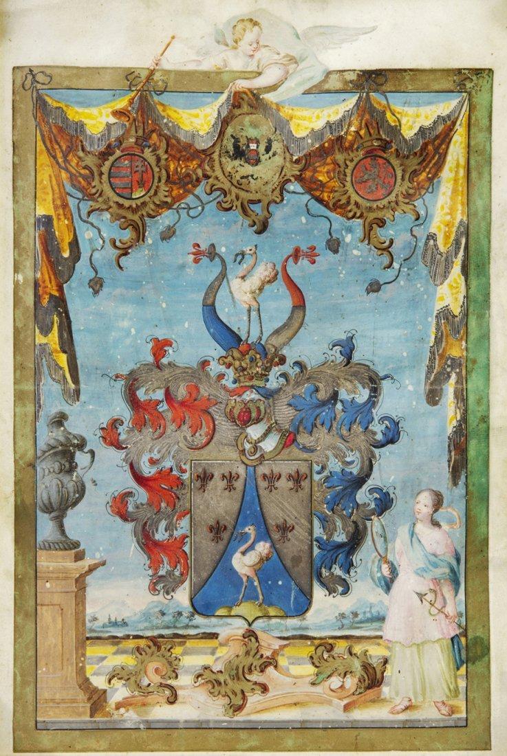 21: (ILLUMINATED MANUSCRIPT, HERALDRY) Manuscript Coat-