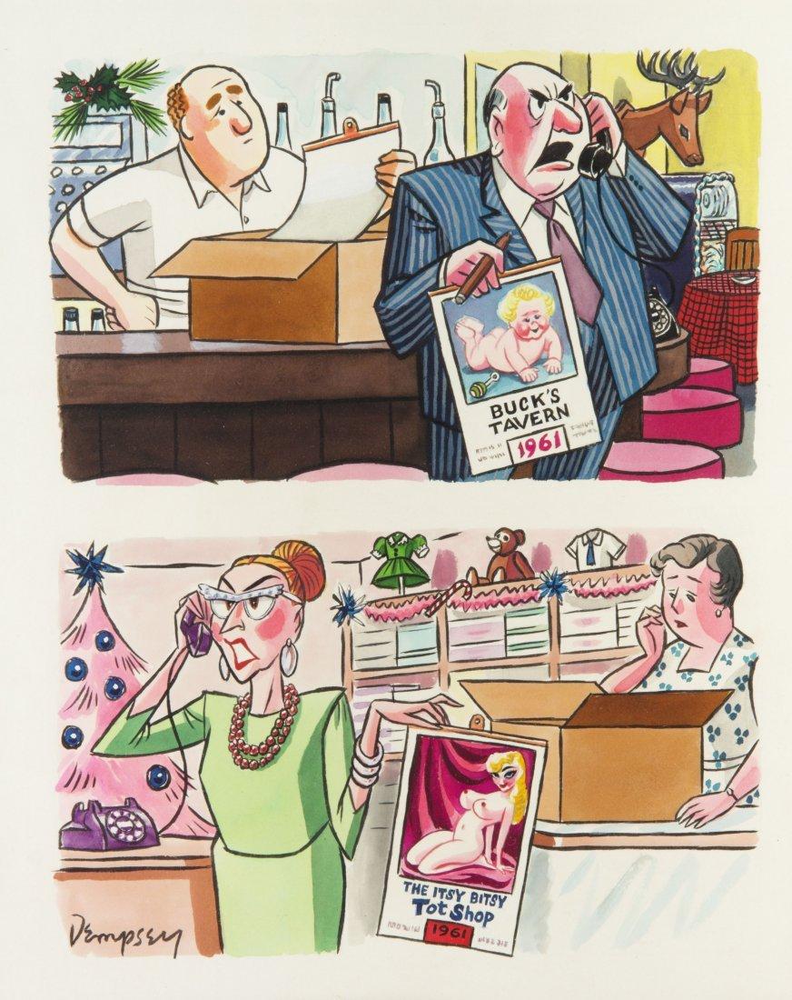 357: DEMPSEY, JOHN. Original cartoon for Playboy Mag.