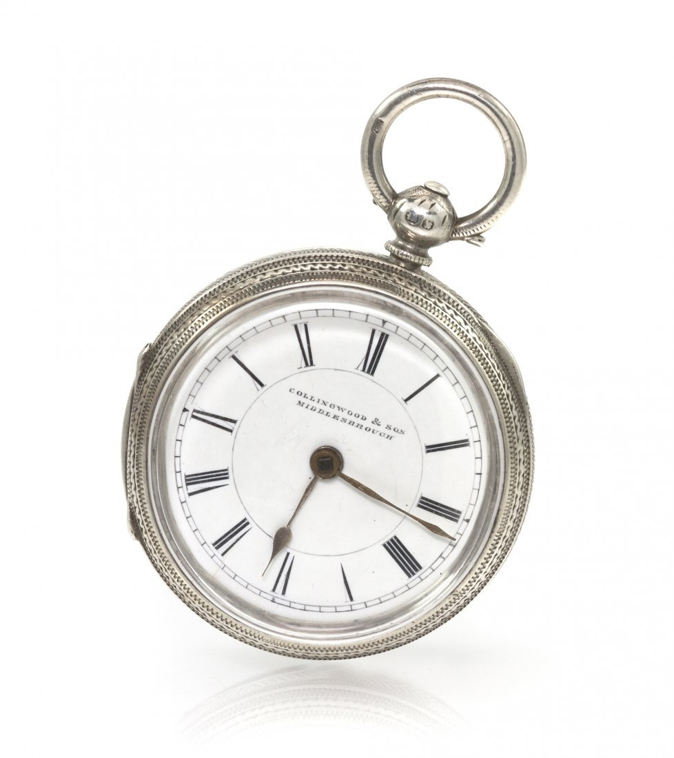 378: A Sterling Silver Open Face Key Wound Pocket Watch