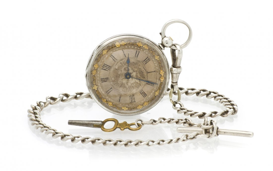 380: A Silver Open Face Pocket Watch, Baume & Co., 42.6