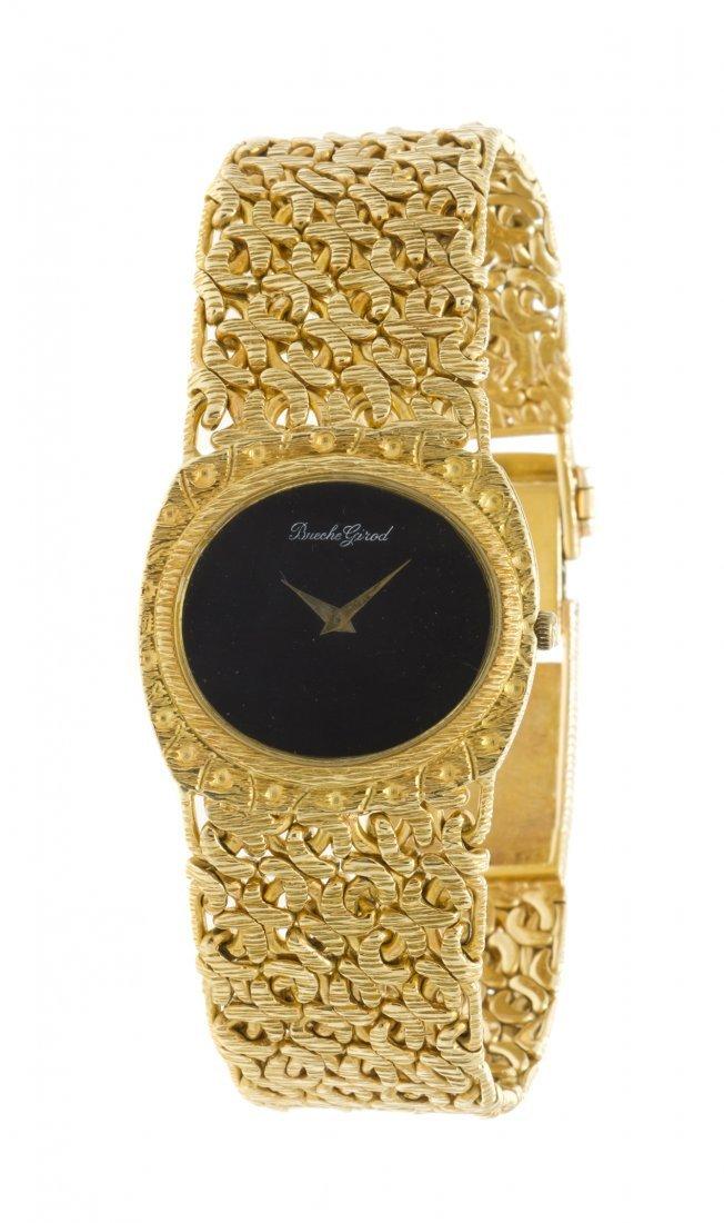 393: An 18 Karat Yellow Gold Wristwatch, Bueche Girod,
