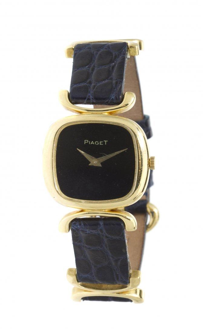 394A: An 18 Karat Yellow Gold Mechanical Wristwatch, Pi