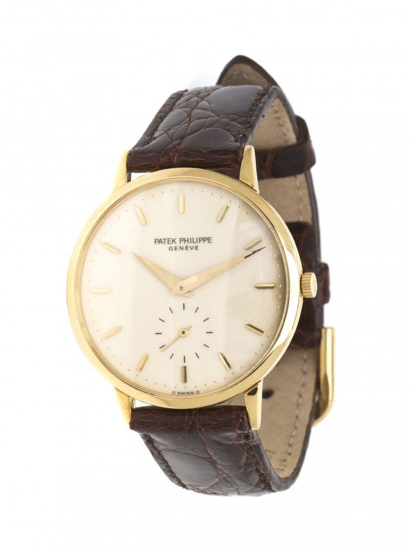 418: An 18 Karat Yellow Gold Ref. 3893 Wristwatch, Pate