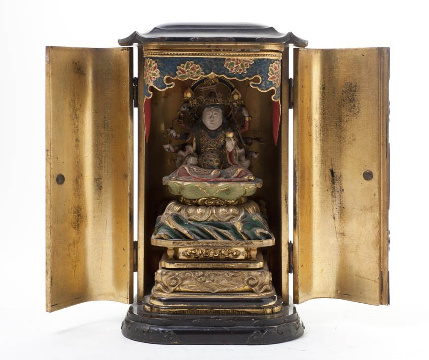 494: A Japanese Lacquered and Gilt Traveling Shrine, He