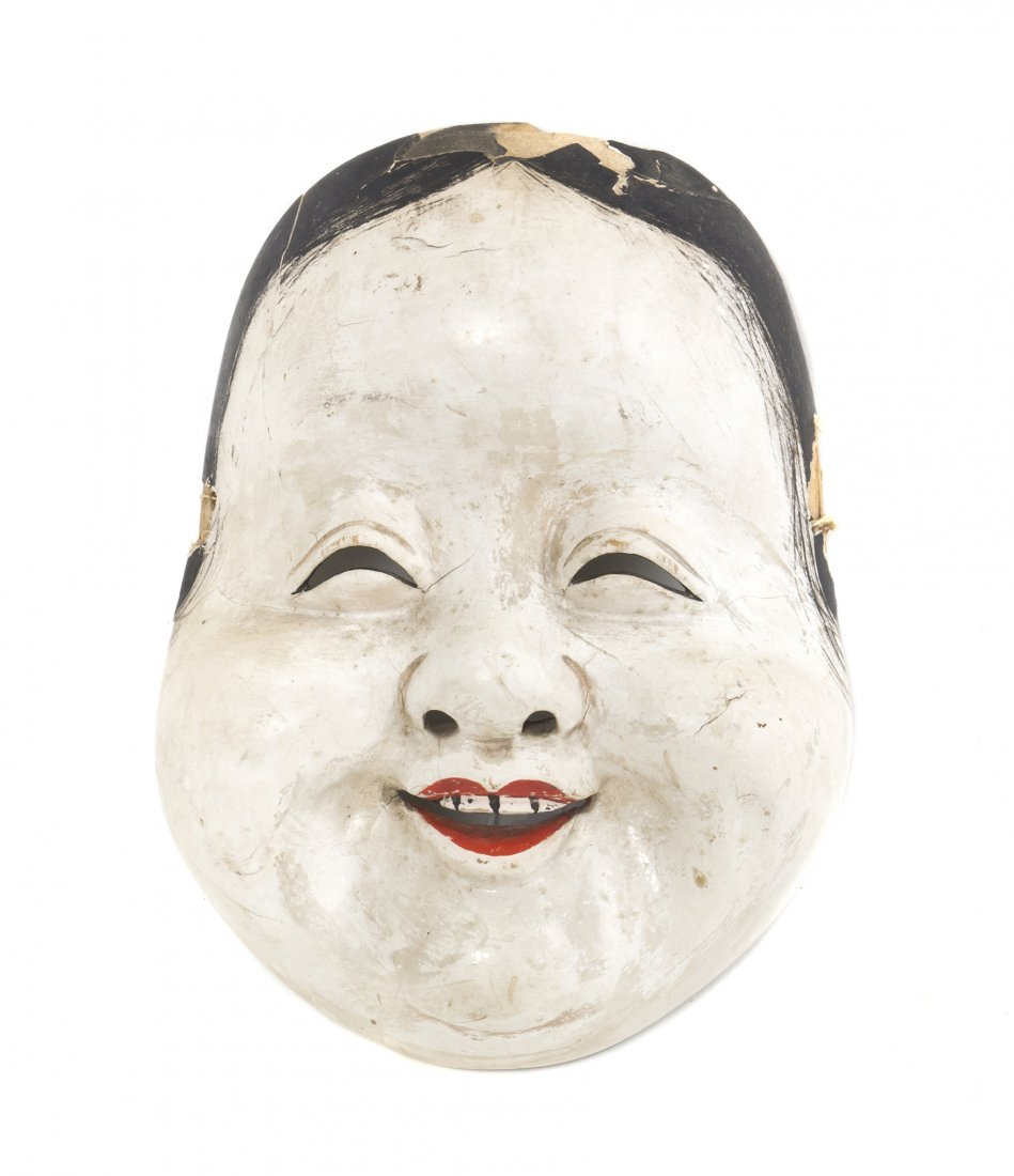 499: A Japanese Noh Mask, Height 8 1/4 inches.