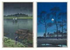 598: A Group of Two Japanese Woodblock Prints, Kawase H