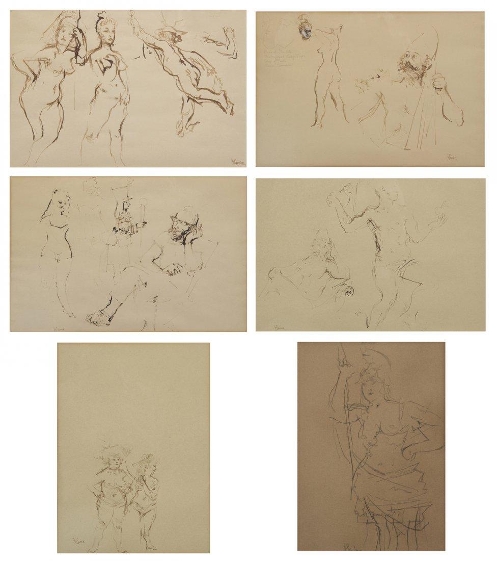 7: Jack Levine, (American, b. 1915), Six Studies for th