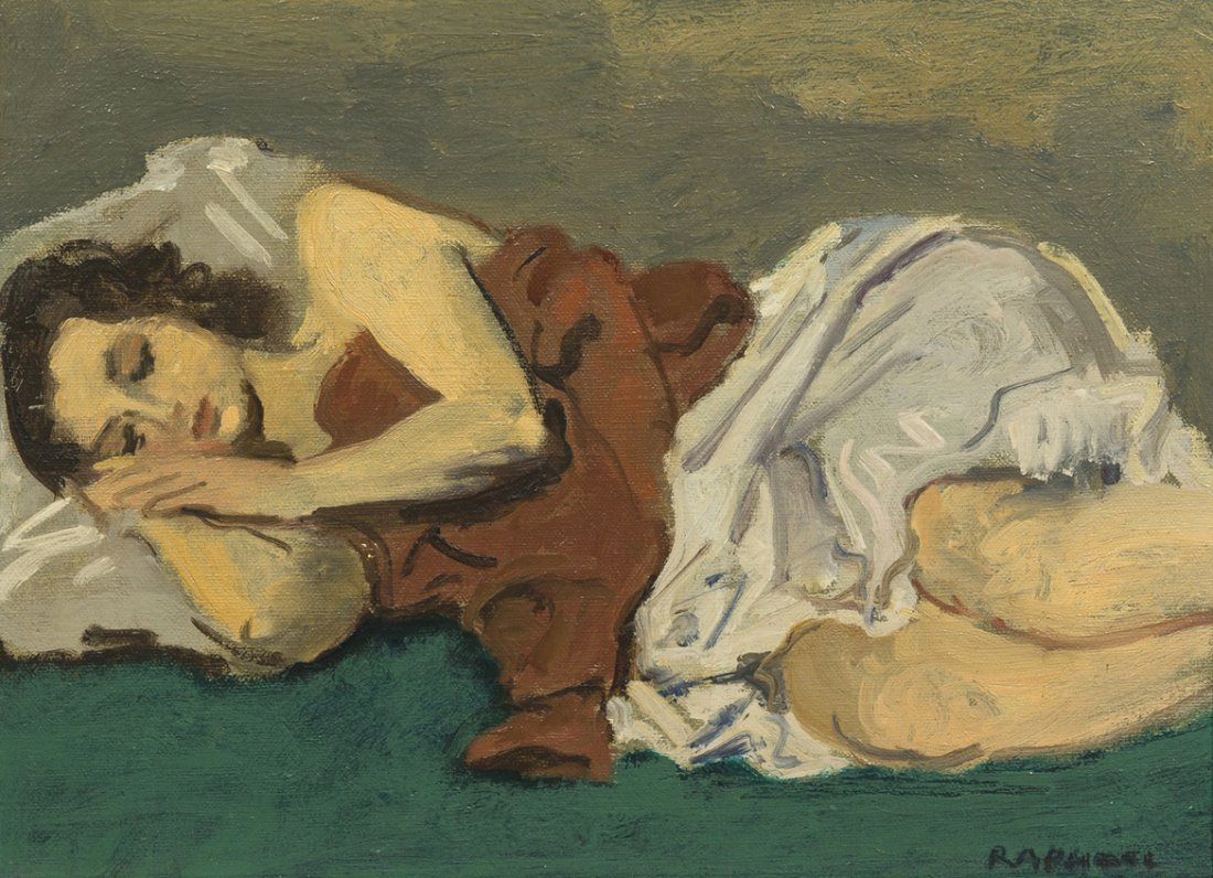 8: Raphael Soyer, (American, 1899-1987), Woman Sleeping