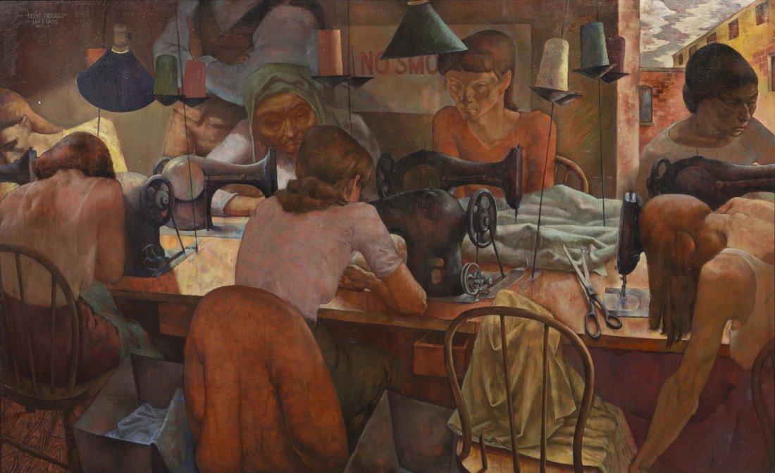 9: Lew Davis, (American, 1910-1979), Eight Figures, 193