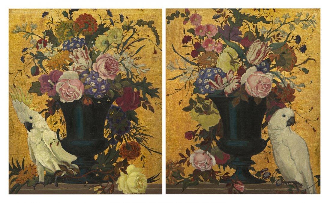 18: Jessie Arms Botke, (American, 1883-1971), Bouquet a