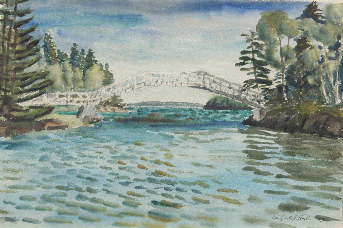 22: Fairfield Porter, (American, 1907-1975), The Bridge