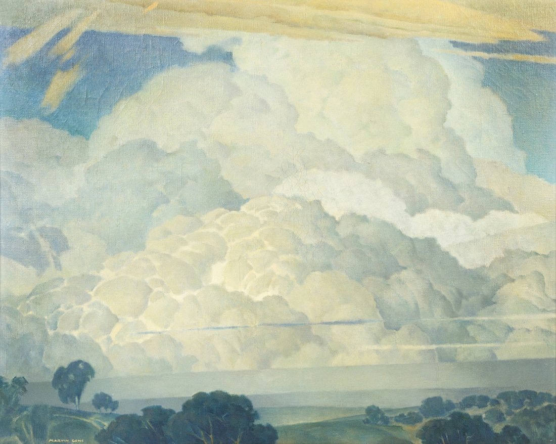 24: Marvin Cone, (American, 1891-1964), Cloud Patterns,