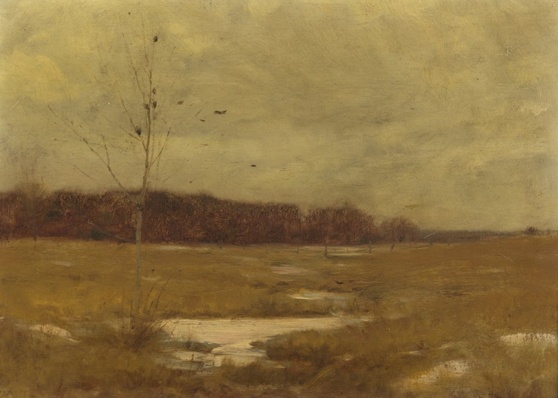 63: Dwight William Tryon, (American, 1849-1925), Autumn
