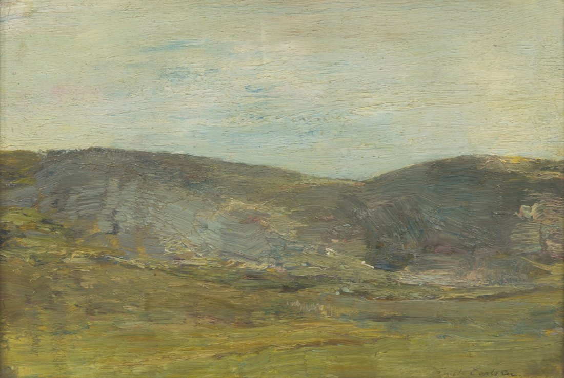 64: Emil Carlsen, (American, 1835-1913), Hills Past the