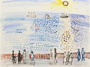 128: Raoul Dufy, (French, 1877-1953), Promeneurs au bor