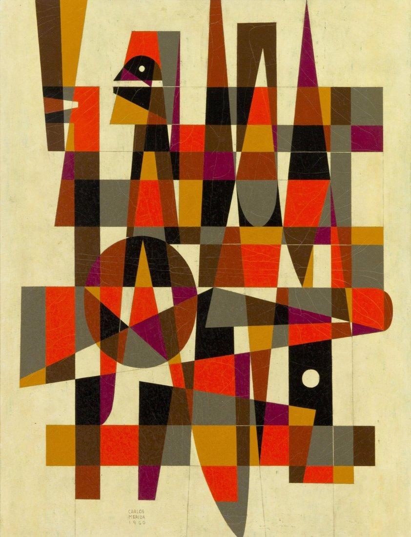 1015: Carlos Merida, (Guatemalan, 1895-1984), Tecum, 19