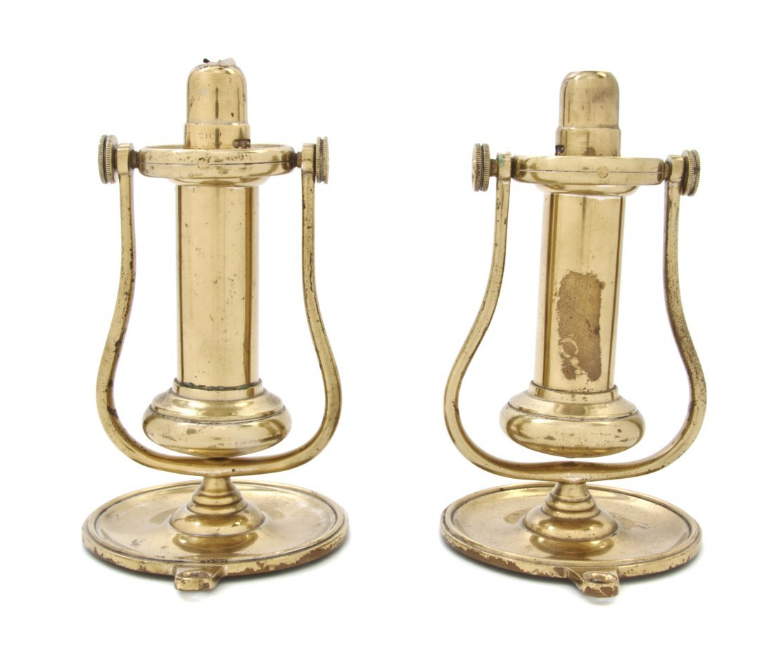 3: A Pair of Brass Nautical Sconces, Height 7 1/4 inche