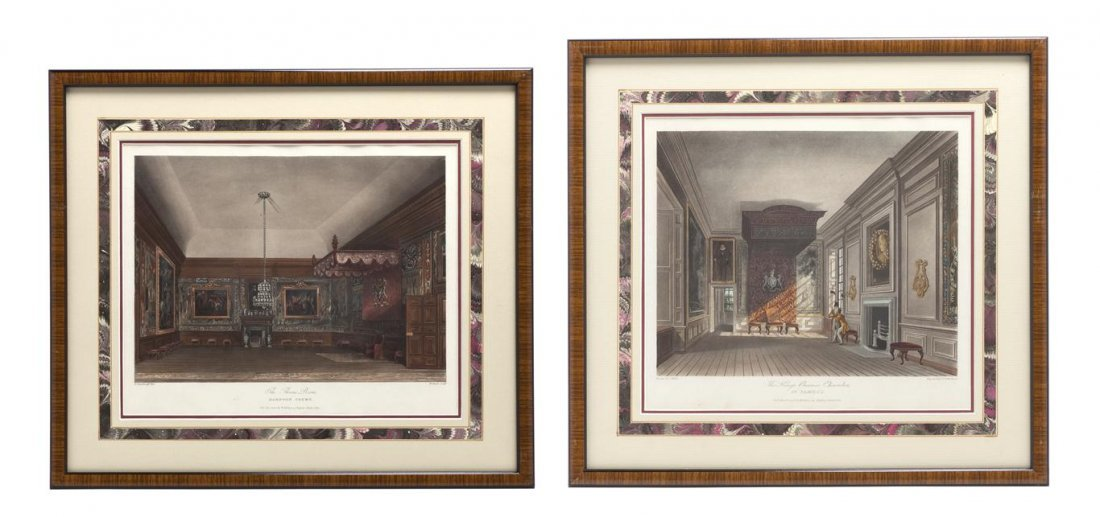 4: A Set of Six English Handcolored Engravings, Height