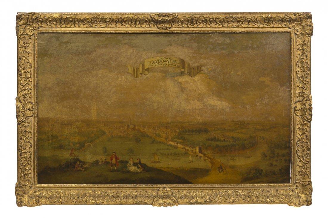 20: British School, (18th century), The City of Norwich