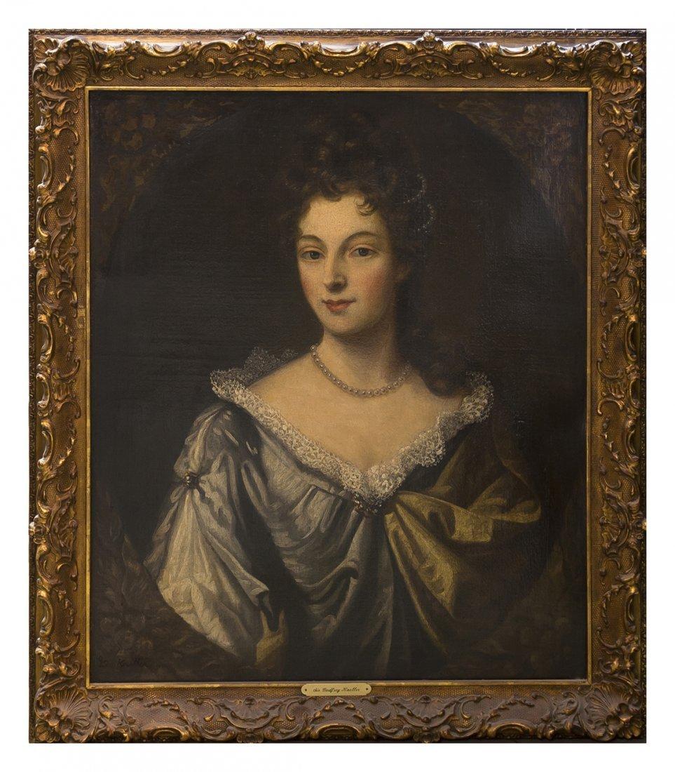 21: After Godfrey Kneller, (British, 1646-1723), Portra