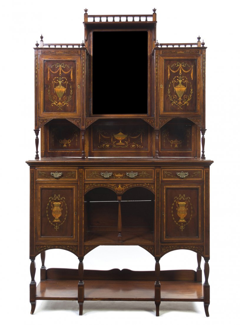 518: An Italian Marquetry and Various Woods Buffet a De