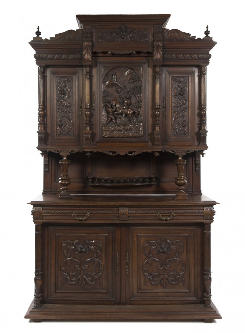 527: A Renaissance Revival Style Carved Cupboard, Heigh