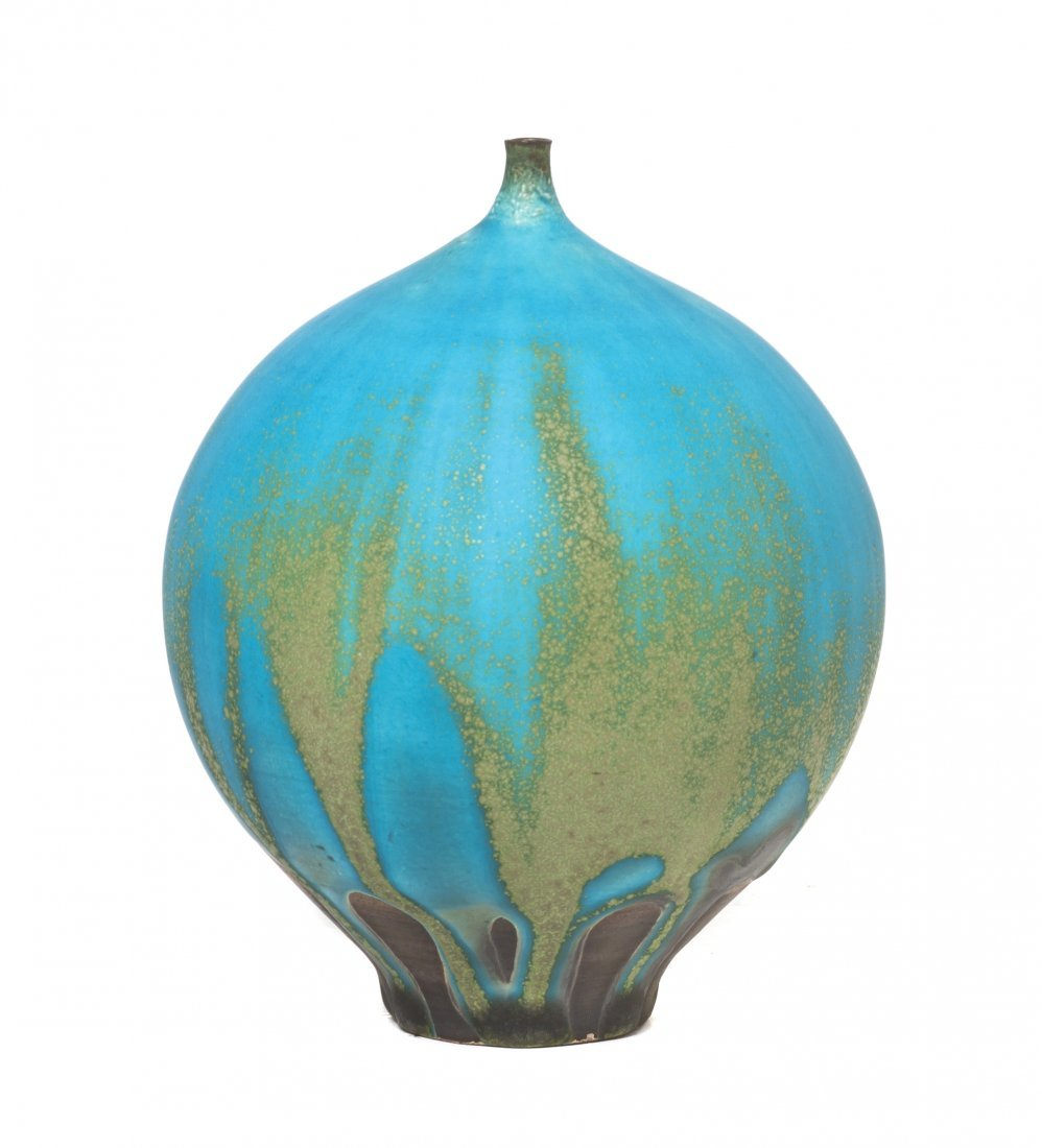 1055: A Rose Cabat Pottery Feelie, Height 4 3/4 inches.