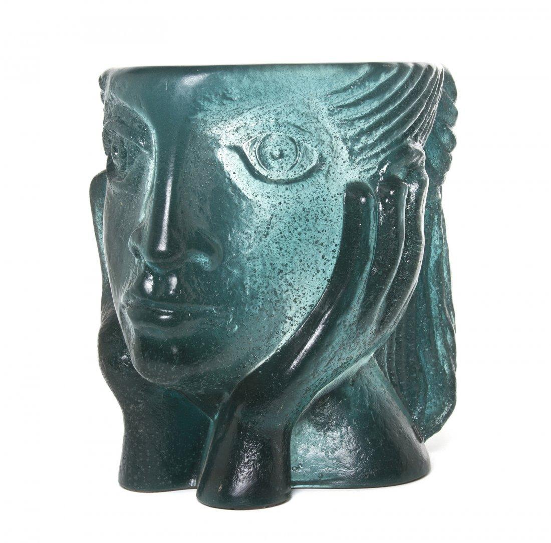 1057: A Daum Pate-de-Verre Glass Sculpture, Height 9 1/