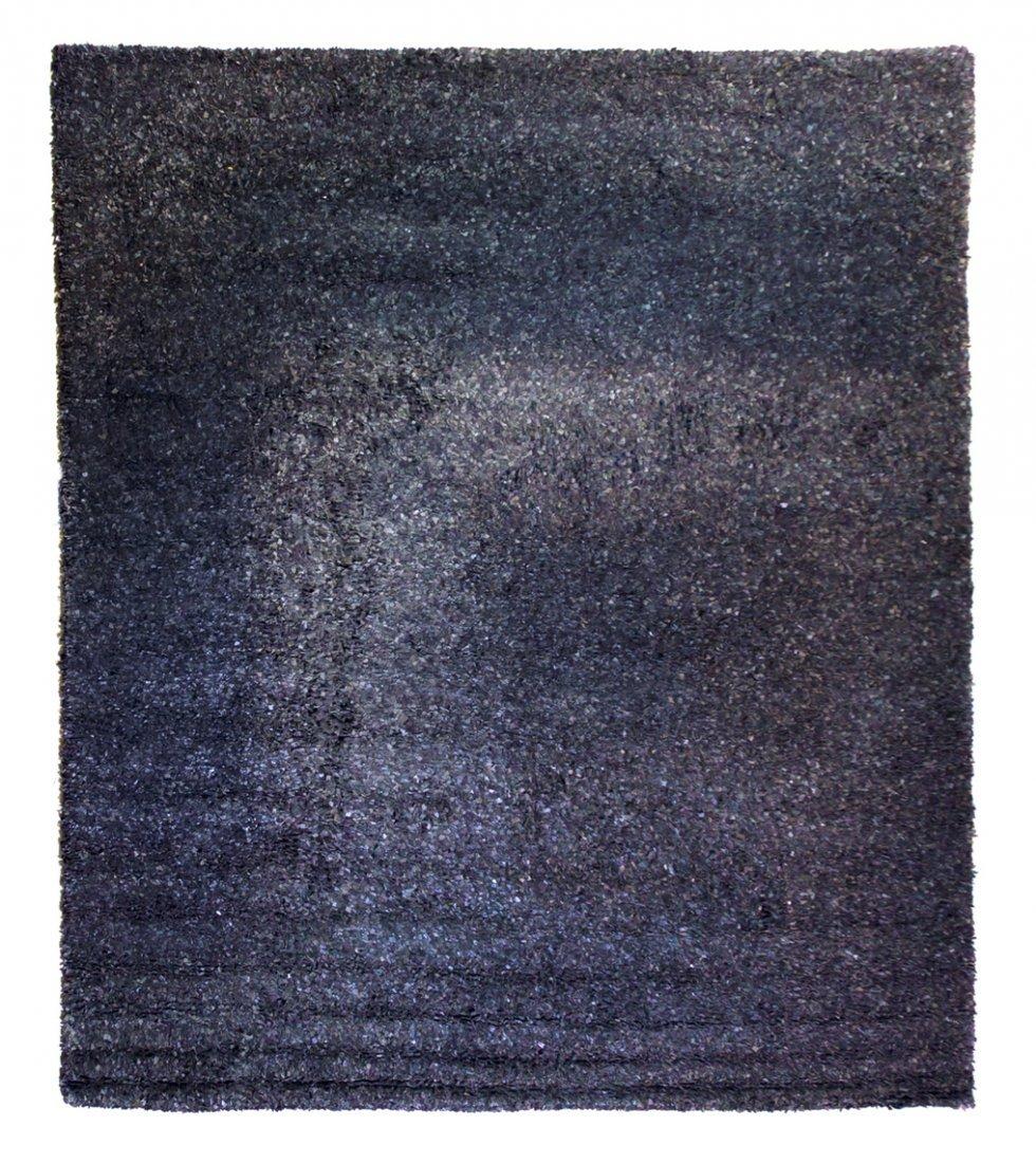 1061: A Gallop Tweed Leather Rug, Flitterman, 13 feet 8