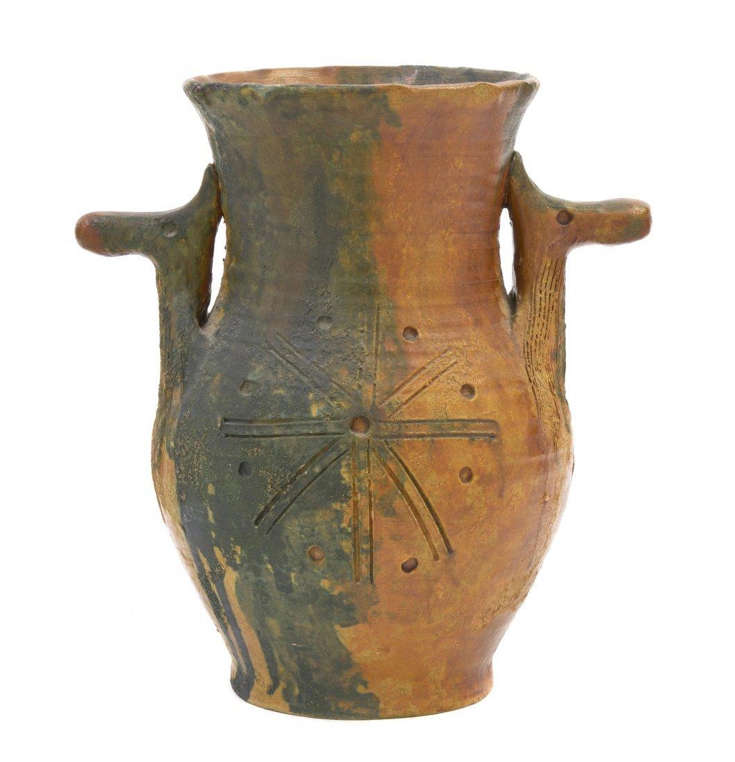 1065: An Italian Pottery Vase, Raymor, Height 10 1/4 in