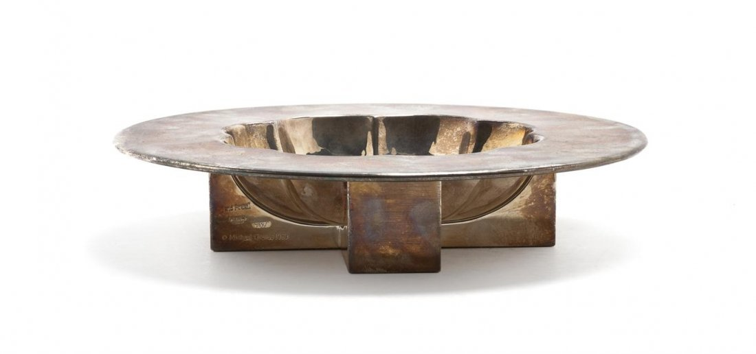 1068: A Silverplate Footed Bowl, Michael Graves for Swi