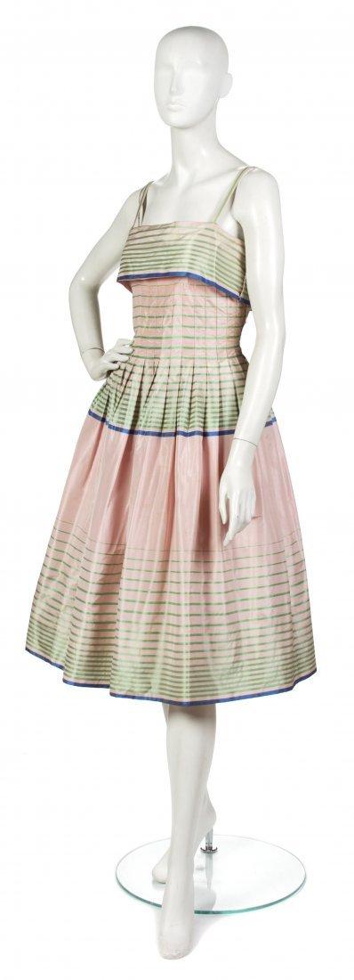 1: A Pauline Trigere Light Pink Silk Day Dress,