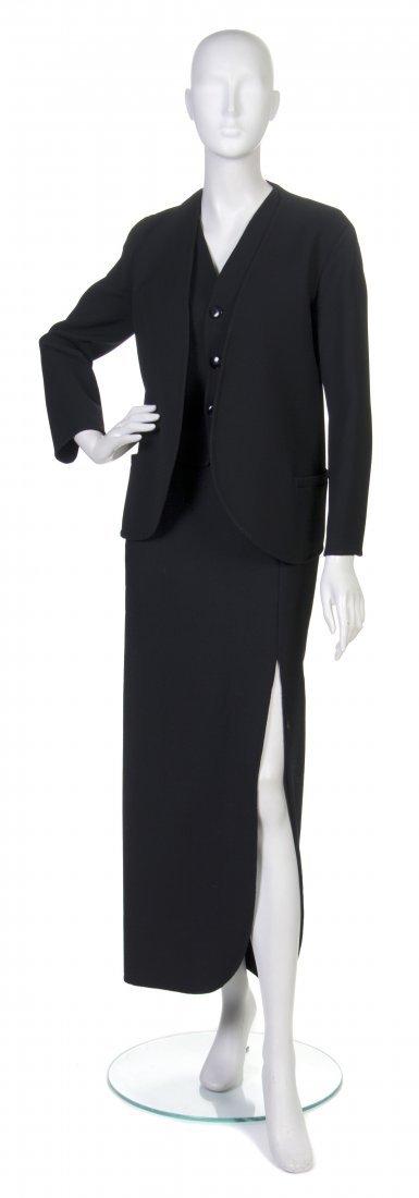 3: A Pauline Trigere Black Ultra Dry Long Skirt Ensembl