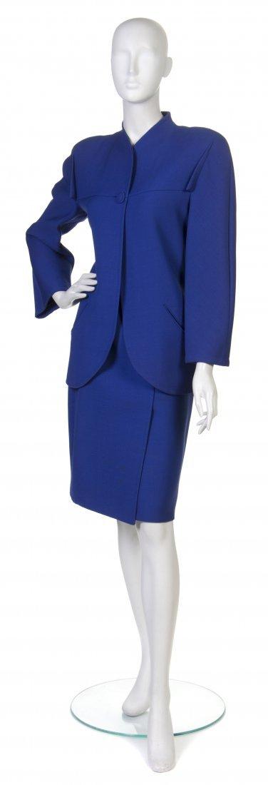 9: A Pauline Trigere Blue Ultra Dry Jacket,