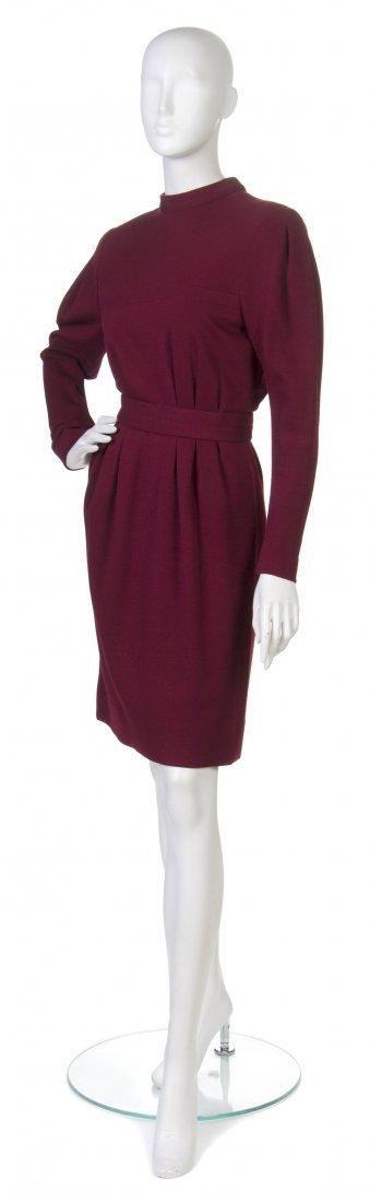 10: A Pauline Trigere Crimson Wool Dress,