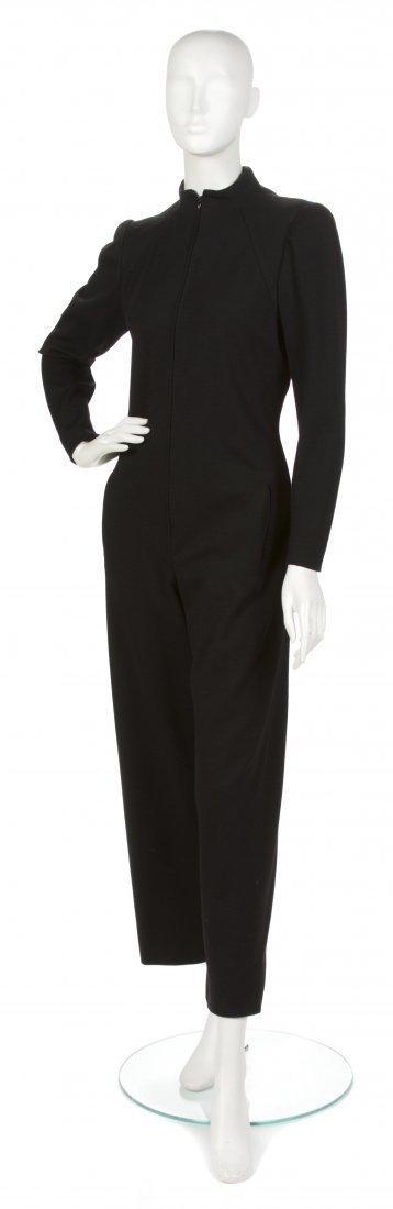 17: A Pauline Trigere Black Wool Jumpsuit,