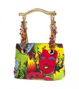 480: A Gianni Versace 'Warhol' Bag, 9 x 6 x 3 inches.