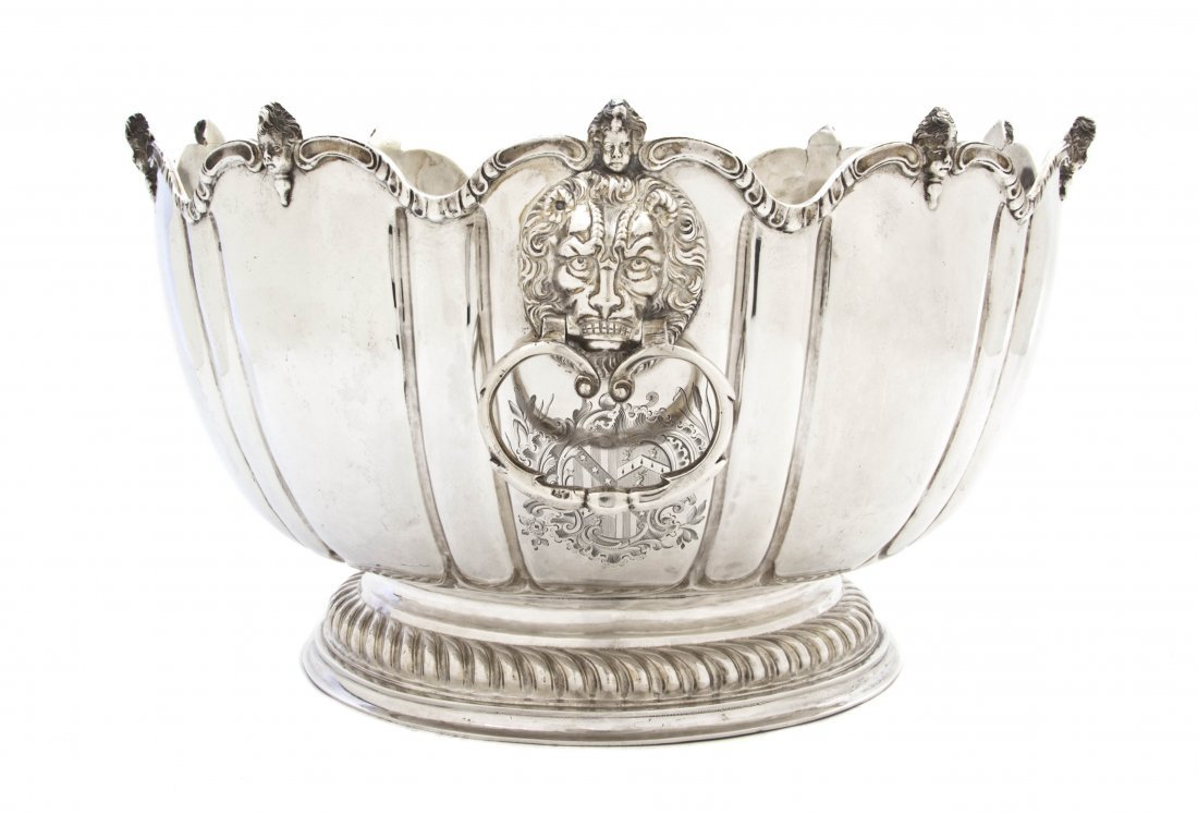 2: A William and Mary Silver Monteith Bowl, George Gart
