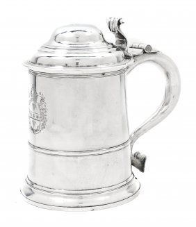 3: A George II Silver Tankard, Richard Bayley, Height 7